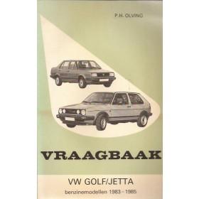 Volkswagen Golf/Jetta Vraagbaak P. Olving Benzine Kluwer 1983-1985 ongebruikt Nederlands 1983 1984 1985