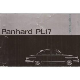 Panhard PL17 Instructieboekje   Benzine Fabrikant 60 ongebruikt   Nederlands