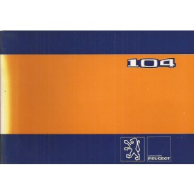 Peugeot 104 Instructieboekje   Benzine Fabrikant 80 ongebruikt   Nederlands/Duits/Frans/Italiaans