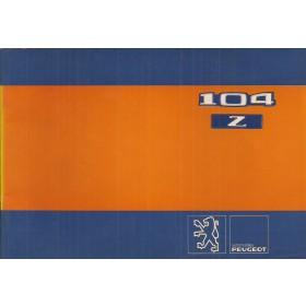 Peugeot 104 Z Instructieboekje   Benzine Fabrikant 80 ongebruikt   Nederlands/Duits/Frans/Italiaans