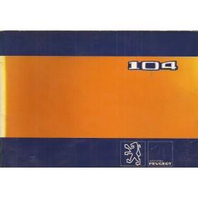 Peugeot 104 Instructieboekje   Benzine Fabrikant 81 met gebruikssporen   Nederlands