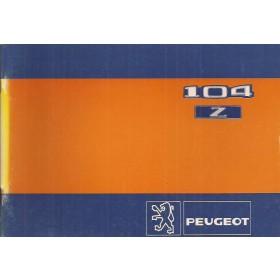 Peugeot 104 Z Instructieboekje   Benzine Fabrikant 81 ongebruikt   Nederlands