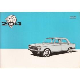 Peugeot 204 Instructieboekje   Benzine Fabrikant 68 ongebruikt   Frans