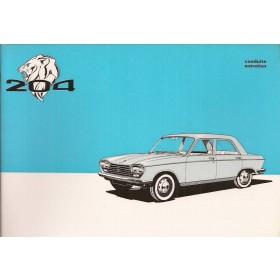 Peugeot 204 Instructieboekje   Benzine Fabrikant 71 ongebruikt in originele map, met dealeroverzicht  Frans