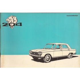 Peugeot 204 Instructieboekje   Benzine Fabrikant 72 met gebruikssporen   Nederlands