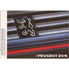 Peugeot 205 Instructieboekje   Benzine/Diesel Fabrikant 89 met gebruikssporen aantal losse pagina's  Frans/Duits/Italiaans