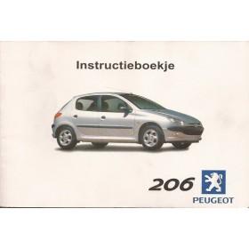 Peugeot 206 Instructieboekje   Benzine Fabrikant 00 met gebruikssporen   Nederlands