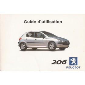 Peugeot 206 Instructieboekje   Benzine Fabrikant 00 met gebruikssporen   Frans