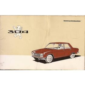 Peugeot 304 Instructieboekje   Benzine Fabrikant 69 met gebruikssporen   Nederlands