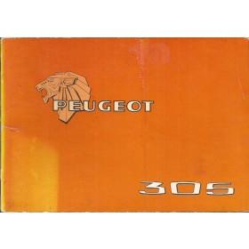 Peugeot 305 Instructieboekje   Benzine Fabrikant 77 met gebruikssporen   Nederlands/Duits/Frans/Italiaans