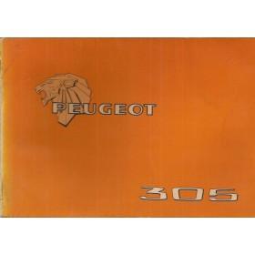Peugeot 305 Instructieboekje   Benzine Fabrikant 79 met gebruikssporen   Nederlands/Duits/Frans/Italiaans