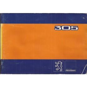 Peugeot 305 Instructieboekje   Benzine/Diesel Fabrikant 81 met gebruikssporen lichte vochtschade, met dieselsupplement  Nederlands/Duits/Frans/Italiaans