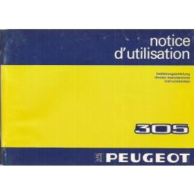 Peugeot 305 Instructieboekje   Benzine Fabrikant 83 met gebruikssporen   Nederlands