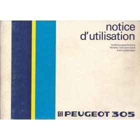 Peugeot 305 Instructieboekje   Benzine Fabrikant 85 met gebruikssporen   Nederlands