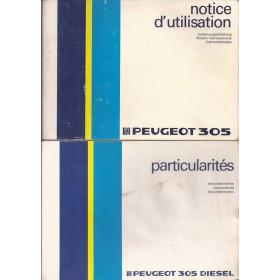 Peugeot 305 Instructieboekje   Benzine/Diesel Fabrikant 86 met gebruikssporen met dieselsupplement  Nederlands