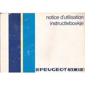 Peugeot 309 Instructieboekje   Benzine Fabrikant 85 met gebruikssporen   Nederlands/Frans