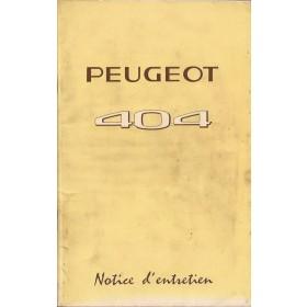 Peugeot 404 Instructieboekje   Benzine Fabrikant 69 ongebruikt met dieselsupplement  Frans