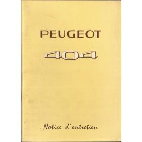 Peugeot 404 Instructieboekje   Benzine Fabrikant 73 ongebruikt   Frans