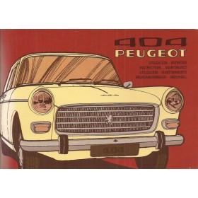 Peugeot 404 Instructieboekje   Benzine Fabrikant 75 ongebruikt   Frans/Engels/Spaans/Zweeds