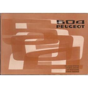Peugeot 504 Instructieboekje   Benzine Fabrikant 75 met gebruikssporen   Nederlands/Duits/Frans/Italiaans