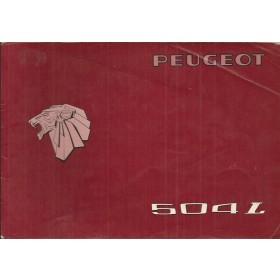 Peugeot 504 L Instructieboekje   Benzine Fabrikant 76 met gebruikssporen   Nederlands/Duits/Frans/Italiaans
