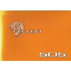 Peugeot 505 Instructieboekje   Benzine Fabrikant 79 ongebruikt   Nederlands/Duits/Frans/Italiaans