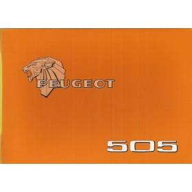 Peugeot 505 Instructieboekje   Benzine Fabrikant 80 ongebruikt   Nederlands/Duits/Frans/Italiaans
