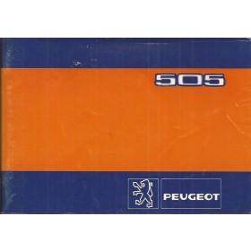 Peugeot 505 Instructieboekje   Benzine Fabrikant 82 met gebruikssporen   Nederlands/Duits/Frans/Italiaans