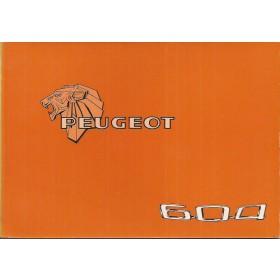 Peugeot 604 Instructieboekje   Benzine Fabrikant 78 ongebruikt   Nederlands/Duits/Frans/Italiaans