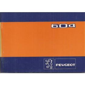 Peugeot 604 Instructieboekje   Benzine Fabrikant 82 ongebruikt    Frans/Engels/Spaans/Zweeds