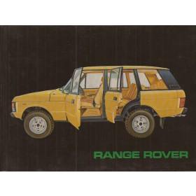 Range Rover Range Rover Instructieboekje   Benzine Fabrikant 82 ongebruikt harde kaft  Nederlands