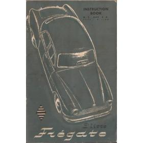 Renault Fregate Instructieboekje   Benzine Fabrikant 55 met gebruikssporen   Engels