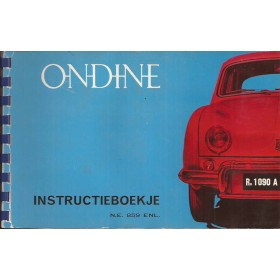 Renault Ondine Instructieboekje   Benzine Fabrikant 60 met gebruikssporen   Nederlands