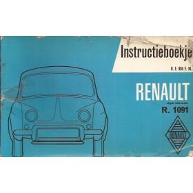 Renault Dauphine Instructieboekje   Benzine Fabrikant 60 met gebruikssporen   Nederlands