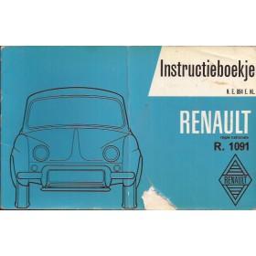Renault Dauphine Instructieboekje   Benzine Fabrikant 60 met gebruikssporen beschadigde kaft  Nederlands