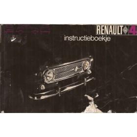 Renault 4 Instructieboekje   Benzine Fabrikant 69 met gebruikssporen vochtschade, kaft beschadigd  Nederlands