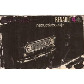Renault 4 Instructieboekje   Benzine Fabrikant 70 met gebruikssporen vochtschade, kaft beschadigd  Nederlands