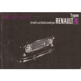 Renault 4 Instructieboekje   Benzine Fabrikant 72 ongebruikt   Nederlands