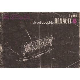 Renault 4 Instructieboekje   Benzine Fabrikant 72 met gebruikssporen   Nederlands
