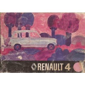 Renault 4 Instructieboekje   Benzine Fabrikant 75 met gebruikssporen   Nederlands