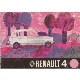 Renault 4 Instructieboekje   Benzine Fabrikant 76 met gebruikssporen   Nederlands