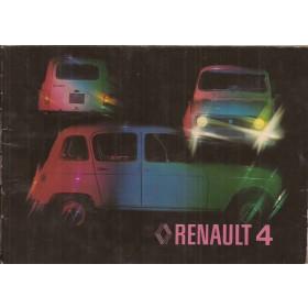 Renault 4 Instructieboekje   Benzine Fabrikant 77 met gebruikssporen lichte vochtschade  Nederlands