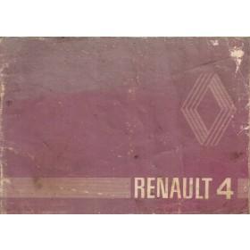 Renault 4 Instructieboekje   Benzine Fabrikant 80 met gebruikssporen   Nederlands