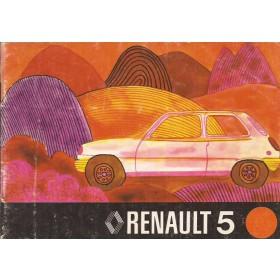 Renault 5 Instructieboekje   Benzine Fabrikant 75 met gebruikssporen   Nederlands