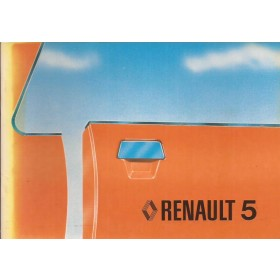 Renault 5 Instructieboekje   Benzine Fabrikant 79 ongebruikt   Nederlands