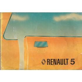 Renault 5 Instructieboekje   Benzine Fabrikant 79 met gebruikssporen   Nederlands