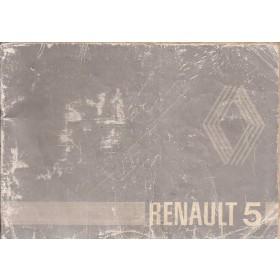 Renault 5 Instructieboekje   Benzine Fabrikant 80 met gebruikssporen rug beschadigd  Nederlands