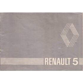 Renault 5 Instructieboekje   Benzine Fabrikant 81 met gebruikssporen zilveren kaft  Nederlands