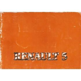 Renault 5 Instructieboekje   Benzine Fabrikant 81 met gebruikssporen oranje kaft  Nederlands