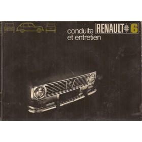 Renault 6 Instructieboekje   Benzine Fabrikant 69 met gebruikssporen lichte vochtschade  Frans